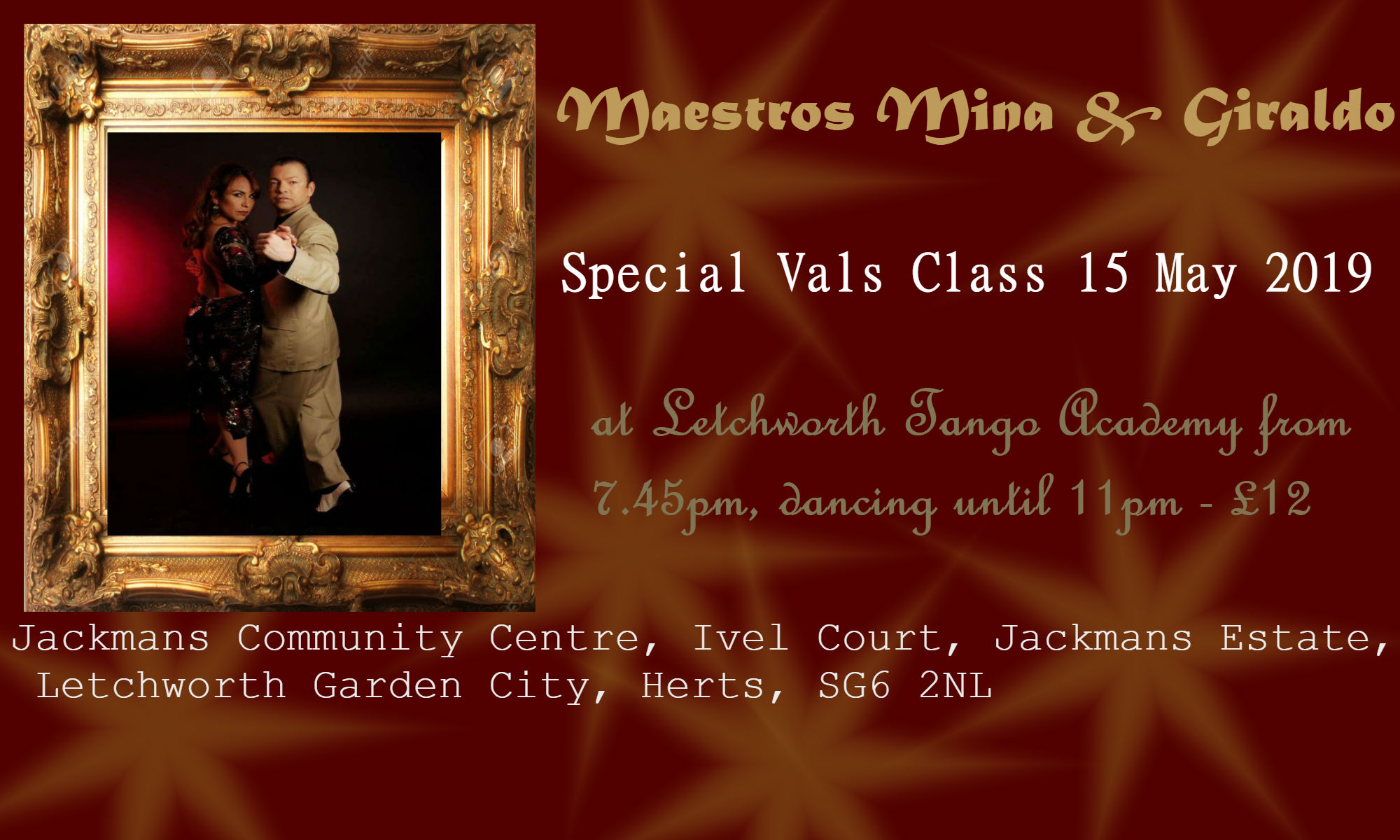 Special Vals Class by Mina & Giraldo @ Jackmans Community Centre