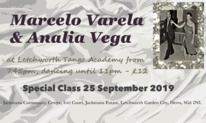 Special Class by Maestros Marcelo Varela y Analia Vega @ Jackmans Community Centre